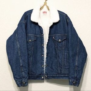 Vintage Levi's Sherpa Lined Denim Trucker Jacket